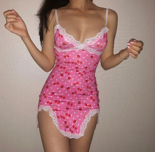 Cherry Slip Mini One-piece