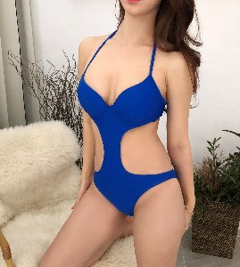 Cut-out Blue Monokini