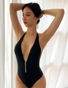 Deep V-Neck Zipper Monokini